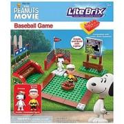 Cra-Z-Art Lite Brix The Peanuts Movie Baseball Game Construction Building Set