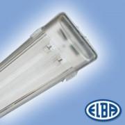 Por és páramentes lámpa FIPAD 05 DANUBIUS 2x18W HF-S elektronikus előtéttel, átlátszó polikarbonát búra IP65 Elba