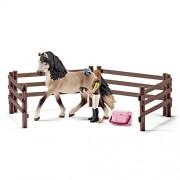 Schleich 42270 - Set per la Cura dei Cavalli Andalusi