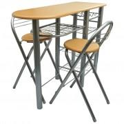vidaXL Kuchyňský snídaňový bar stůl a židle