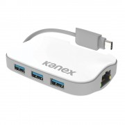 Kanex USB-C Hub - Ethernet адаптер и 3-портов USB хъб (разклонител) от USB-C към USB-A за MacBook 12 и компютри с USB-C порт (бял)
