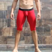 McKillop Bulge Envy Bespoke Capri Modal Low Rise Long Boxer Brief Underwear Red BCMO-RD1