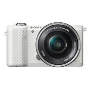 Sony ILCE5000L Compact System Camera with SEL-1650 Zoom Lens (20.1 MP, 180 Degrees Tiltable LCD, Wi-Fi and NFC ) - White