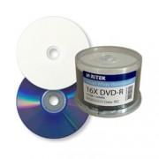 DVD-R 16x Ritek Inkjet White Waterproof Tarrina 50 uds
