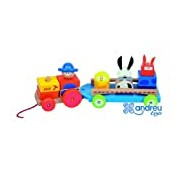 Andreu Toys 32 x 11 x 12 cm Pull Along Tractor Farm (Multi-Colour)