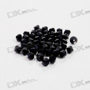 Austria Ornamental DIY Crystal Beads Black (50-Pack)