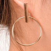 rosegal Pair of Vintage Circle Geometric Earrings