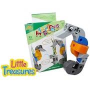 Brick-Clicks Sea-Horse 33Pcs 3-In-1 Unlimited Creativity Fun - Sea Friends Educational Play Toys Building Blocks Set For