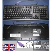 Clavier/Keyboard Qwerty UK Pour KB-2971 KB2971, KB.KBP03.228, KBKBP03228, Port connecteur/ connector PS2, Noir / Black
