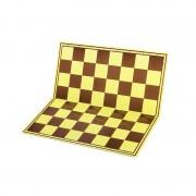 Tablă de șah carton mat sau lucios, galben/maro