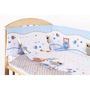 Lenjerie patut, 5 piese, Bufinite albastre, 120 x 60 cm