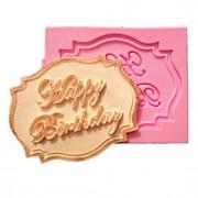 feliz cupcake do aniversário moldes do bolo cartão de fondant de chocolate para a decoração do molde do cozimento da cozinha para doces de