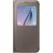 Husa Flip S-View Samsung Galaxy S6 G920 Gold