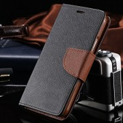 First 4 Covers For Oppo A57 Diary Case (Black & Brown)