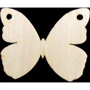 Magideal 25Pcs Wooden Mdf Butterfly Shape Tags Embelishment Chrsitmas Tree Decor