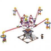 Rotary Swing OctopusDandelion Style Amusement Park Set 338 Pcs, Height 16 In, Electric Toy Assembly Building Block, Compare To Knex Building Toys, Magnificent Motor And Gears Set