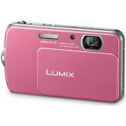 PANASONIC LUMIX DMC-FP7 PINK DIGITAL CAMERA TOUCH LCD 4-GB CARD, CASE