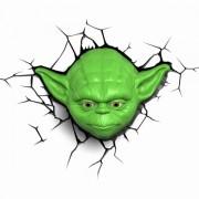 Gadgy 3D Wandleuchte Star Wars Yoda