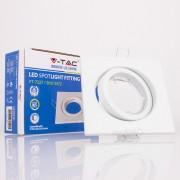 Aro GU10 orientável V-TAC quadrado Branco