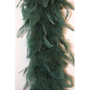 80 Gram Chandelle Feather Boa - HUNTER GREEN 2 Yards