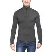 Woolpower 200 Zip Turtleneck Unisex Grey XL Langarm Shirts