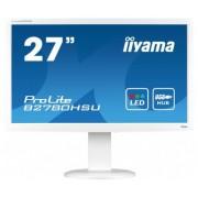 IIYAMA ProLite B2780HSU Blanc - LED 27' VGA,DVI, HDMI 1920 x 1080, Hub USB
