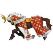 Cavallo del Cavaliere testa di cervo rosso Papo cod. 39912