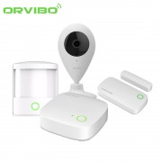 Kit sistem de securitate Orvibo 5 in 1, Mini Hub protocol ZigBee, Senzori Usa, PIR, Camera Video - model 2017