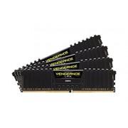 Corsair Vengeance LPX CMK32GX4M4B3333C16 Kit di Memoria RAM da 32GB, 4x8GB, DDR4, 3333 MHz, CL16, Nero