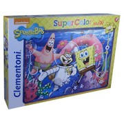Clementoni 23653 - Spongebob You Don'T Need a License To Drive a Sandwich - Maxi Puzzle 104 pezzi