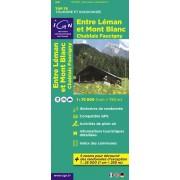 Fietskaart - Wandelkaart 07 Top75 Entre Léman et Mont Blanc | IGN