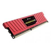 Corsair CML8GX3M1C1600C9R Vengeance LP Kit di Memoria da 8 GB, 1x8 GB DDR3L Low Voltage, 1600 MHz, CL9 XMP Performance, Rosso