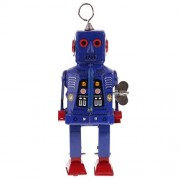 MagiDeal Classic Wind Up Walking Robots Gold Space Robot Clockwork Tin Toys Gifts New