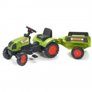 Falk Tractor Met Trailer Claas Arion 410