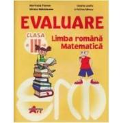 Evaluare cls 3 limba romana matematica - Marinela Florea Violeta Ispas Ileana Leafu