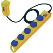 Érintés védelmi személyvédős FI elosztó 5 részes sárga-kék 5m BRENNENSTUHL (620716)