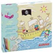 Cutie cu articole creative pentru copii, ALPINO ArtKid Piratas al abordaje