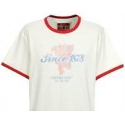 Manchester United Heritage Ringer T-shirt Ecry póló