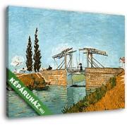 Vincent Van Gogh: A Langlois híd (35x25 cm, Vászonkép )
