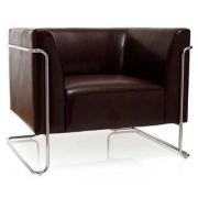 Hjh Sofa 1 plaza de diseño CURACAO, muy Ámplio y Acolchado, Varios colores, en Marrón