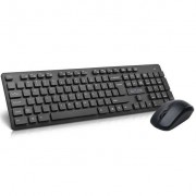 Kit tastatura si mouse Delux Wireless Delux KA150+M136 Black