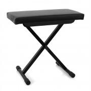 MALONE стол за пиано регулируема височина черен (Piano Bench)