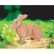 Puzzled Rabbit 3D Wooden Puzzle (43 Piece) by Puzzled
