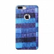 Apple Coque Luxe Rigide Simili Cuir avec Motif Bleu Croco pour Apple iPhone 7 Plus