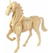 Houten 3D puzzel boerderijdieren paard