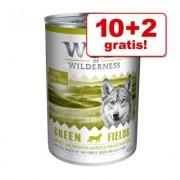 10 + 2 gratis! Wolf of Wilderness 12 x 400 g - Oak Woods - Wildzwijn