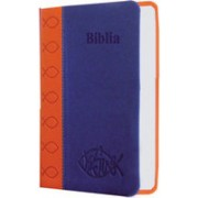 Biblia de buzunar - portocaliu-albastru.