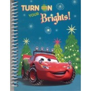 Disney/Pixar Cars Lightning McQueen Holiday Christmas 5 x 7 Hardcover Spiral Notebook by Disney