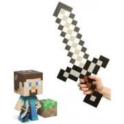 "Minecraft Steve Vinyl 6"" Figure & Foam Sword Set Of 2"