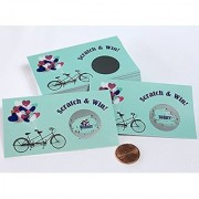 Bridal Shower Scratch Off Game Card | Vintage Mint Green Bicycle Wedding Shower Games Set 25 cards Kit for Guests My Scratch Offs LLC